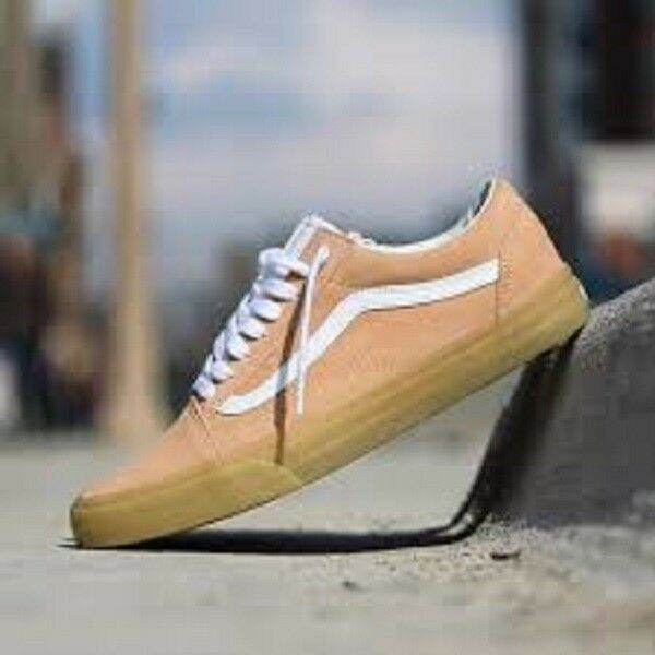 9b74652802e VANS Old Skool Double Light Gum Womens Apricot Suede Trainers - 8 UK for  sale online