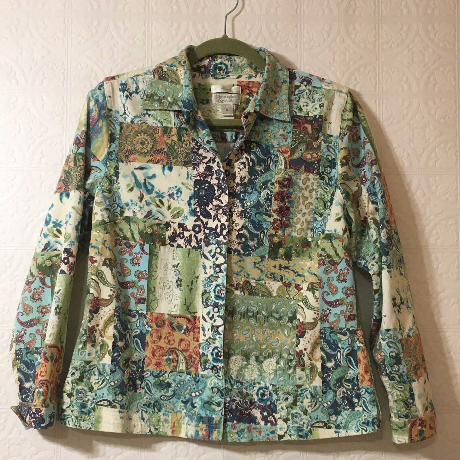CHRISTOPHER & BANKS Jacket Women's Size Small Pea… - image 11
