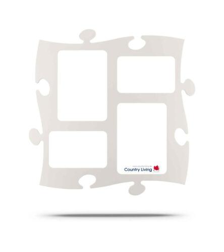 Rahmen Puzzle Bilderrahmen 2 x 10x15//13x18 cm Country Living Farben Puzzle