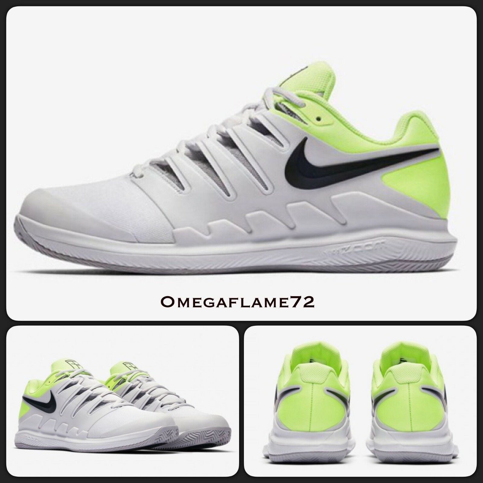 Nike Zoom Vapor X Arcilla, AA80220181, UU. Reino Unido 7.5, EE. UU. AA80220181, 8.5, Federer Tenis Zapato 6ecdb6
