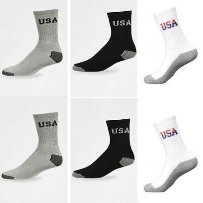 5~200 Dozens Wholesale Lots Men Solid Sports Cotton Crew Socks Gift Cheap Xmas