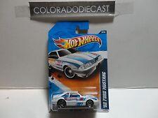 2011 Hot Wheels #159 White '92 Ford Mustang w/PR5 Spoke Wheels