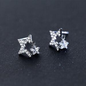Ohrstecker Sterne echt Sterling Silber 925 Damen Mädchen Ohrringe