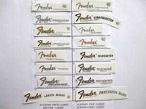 Fender decal Waterslide ( 1 au choix ) - France - État : Neuf: Objet neuf et intact, n'ayant jamais servi, non ouvert, vendu dans son emballage d'origine (lorsqu'il y en a un). L'emballage doit tre le mme que celui de l'objet vendu en magasin, sauf si l'objet a été emballé par le fabricant d - France