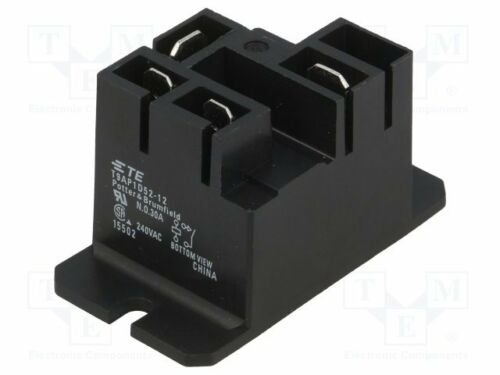 electromagnetic; SPST-NO; Ucoil:12VDC; 30A//240VAC; 30A Relay 1 pcs