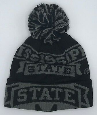 Memorabilia Basketball Ncaa Mississippi State Bulldogs Adidas Cuffed Pom Knit Hat Cap Style #kx03z New High Quality And Low Overhead