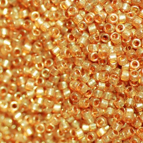 helltopaz haut Miyuki Delica Beads rund 11//0 1,6mm hellbraun apricot a 5 g