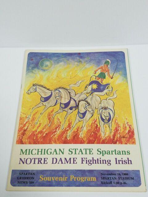 1966 Michigan State MSU vs Notre Dame football program Game of the Century