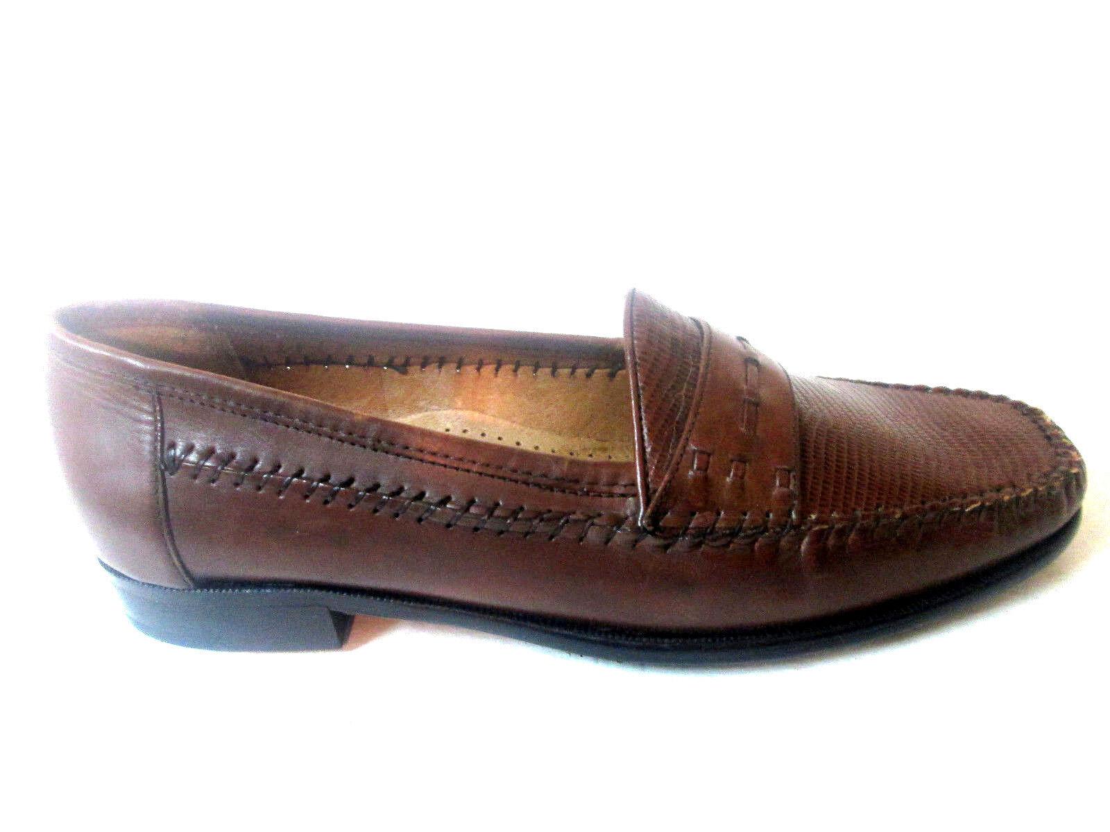 Giorgio Brutini Le Glove Tan Loafer Men schuhe Leather A-Line Lizard Print 478014