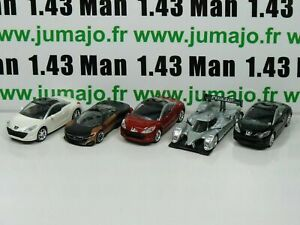 LOT-n-4-5-X-3-inches-1-64-PEUGEOT-NOREV-308-RCZ-3-portes-908-HY-concept-Onyx