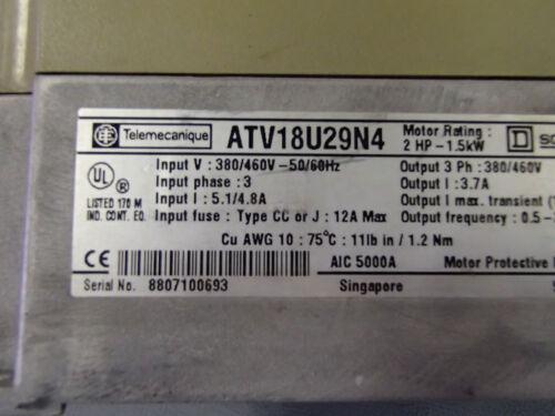 ATV18U29N4 Variateur 3PH  1.5KW   USED TELEMECANIQUE ATV18U29N4