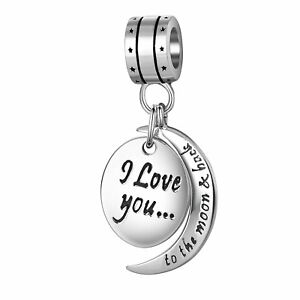 f48d571e5 I Love You to the Moon and Back Charms Bracelet Pandora Sterling ...
