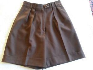 Willensstark Bermudashorts Braun Leinen Daniel D T.40 M Vintage 80 Frau Braun Wolle Shorts Ohne RüCkgabe