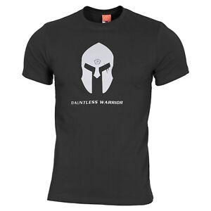 Pentagon T-shirt Maglia Uomo Militare Spartan Casco Black