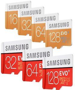8-16-32-64-128-Go-Samsung-EVO-plus-Micro-SD-SDHC-SDXC-Card-CLASS-10