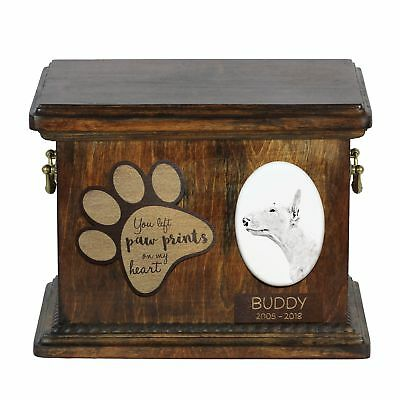 100% Wahr Bullterrier - Urne Für Hundeasche Mit Keramikplatte Und Beschreibung De Um Jeden Preis