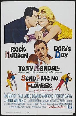 SEND ME NO FLOWERS Movie POSTER Doris Day Rock Hudson