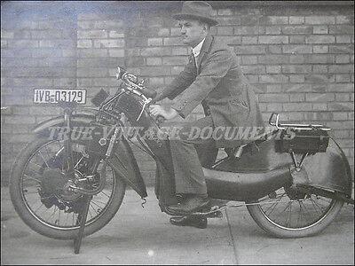 MEGOLA* GERMAN MOTORCYCLE LEGEND*MUNICH 1920-25*ORIG.VTG PHOTO*EXTREME RARE !!!