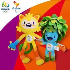 AUTHENTIC OFFICIALS Rio 2016 Olympic mascot Vinicius and Tom plush toys 30cm