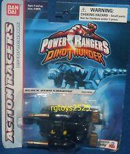 "Power Rangers Dino Thunder BLACK 4"" DINO CHARIOT Racer New Factory Sealed 2003"