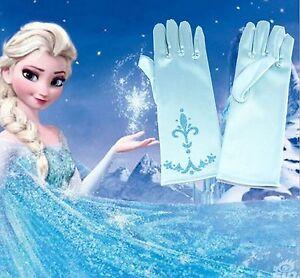 Frozen-Guantes-Azul-Princesa-Elsa-Disfraz-nina-infantil-Pegatinas-Gratis