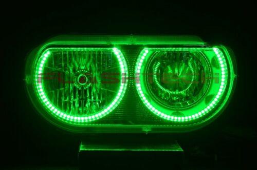for Dodge Challenger 08-14 RGB Multi Color LED Halo kit for Headlights