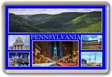 FRIDGE MAGNET - PENNSYLVANIA - Large - USA America TOURIST