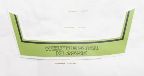 Kreidler Florett K54 RMC S B 5 Heck Aufkleber Satz Weltmeister Hellgrün