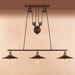 pulley lighting. Image Is Loading Retro-Pulley-Lamp-Industrial-Hanging-Ceiling-Light-Pendant- Pulley Lighting A