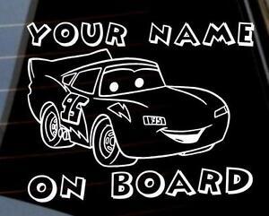 MacQeen Little Racer on Board Personalized car window bumper  sticker VW jdm DUB