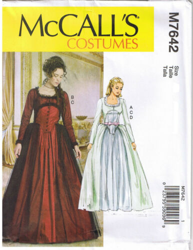 18th Century Scottish Highlander Colonial Gown Sewing Pattern Sz 14 16 18 20 22