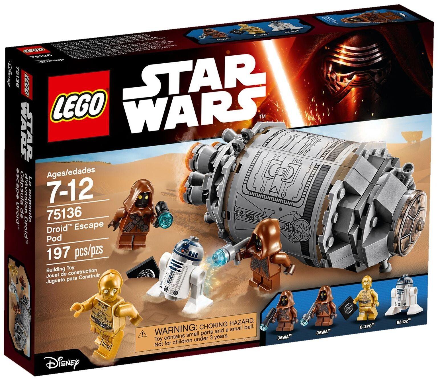 Lego 75136  Star Wars - Droid Escape Pod - Brand New Sealed Box
