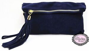 ladies-navy-suede-tassel-clutch-bag-with-detachable-strap