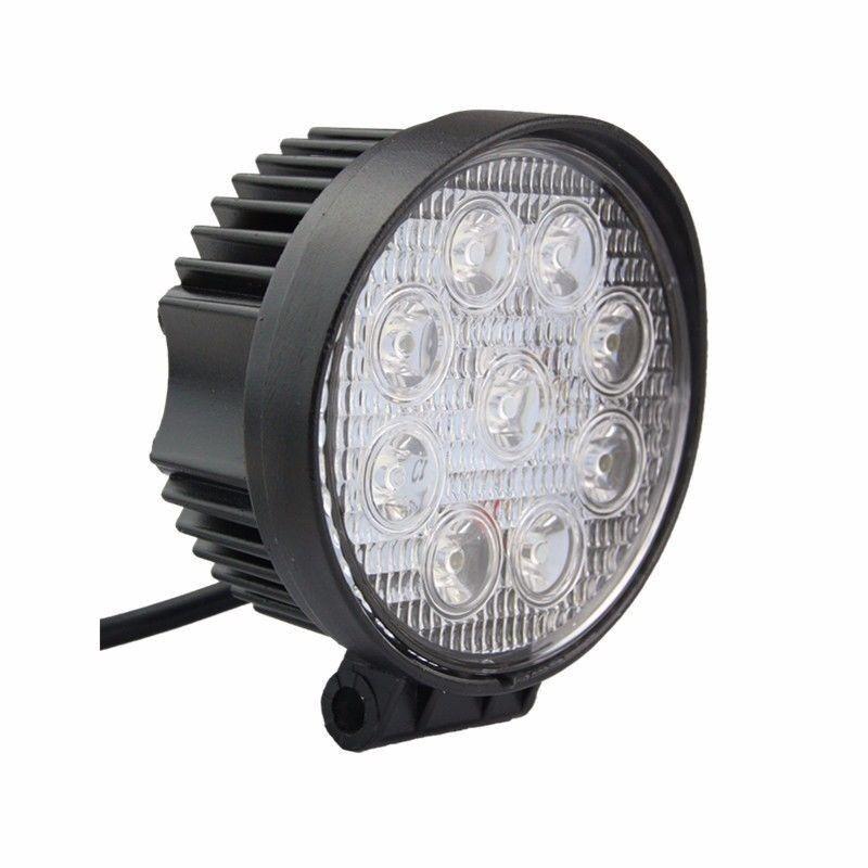 10X27W LED Work Light Bar Round SPOT Beam Offroad Reverse