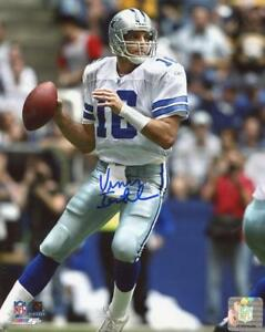 VINNY-TESTAVERDE-DALLAS-COWBOYS-SIGNED-AUTOGRAPHED-8X10-PHOTO-W-COA