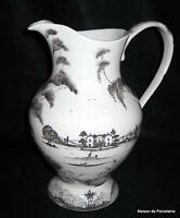 Juliska Country Estate Main House Flint Grey Tall Footed Pitcher