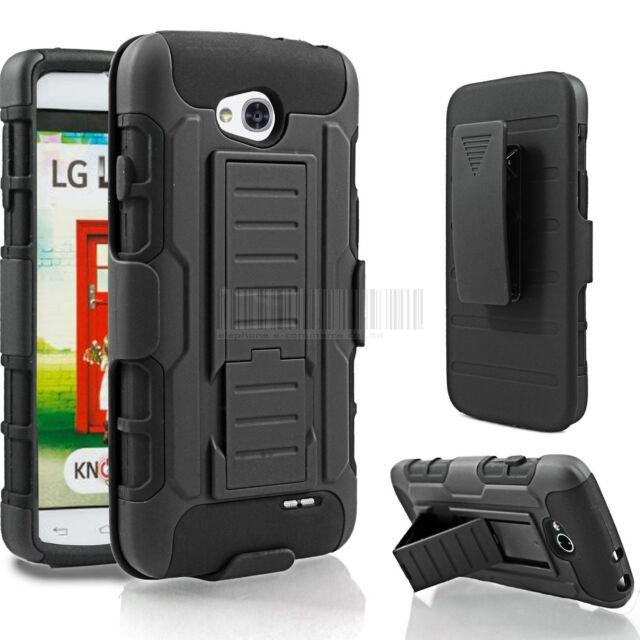 Armor Heavy duty Rugged Hybrid Hard Case Cover For LG Optimus L90 D415