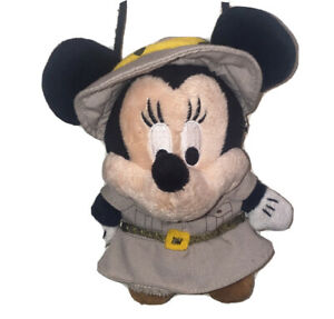 Disney Safari Minnie Mouse Plush Change Coin Pocket Bag Purse Vintage VG