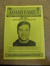 Apr-1995 Wycombe Wanderers: FANZINE-LA FAMIGLIA ADAMS EDIZIONE 17. grazie per la vista