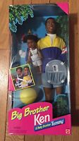 Big Brother African American Ken And Baby Brother Tommy Mattel Barbie Doll