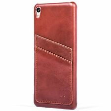 SNAKEHIVE® Real Leather Shell Back Case Cover for Sony Xperia XA