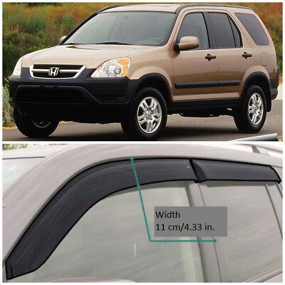 Window Visor Rain Guard Deflector For Honda CR-V CRV  2002 2003 2004 2005 2006