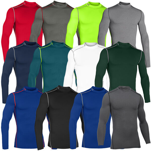 Under Armour Mock ColdGear Compression Mock Armour messieurs training shirt camouflage sport 2a3364