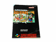 SUPER MARIO ALL STARS snes MANUAL ONLY Super Nintendo French German