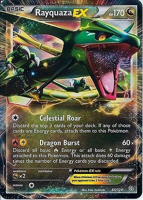85//124 x1 Rayquaza EX NM-Mint!!! Ultra Rare - - BW Dragons Exalted