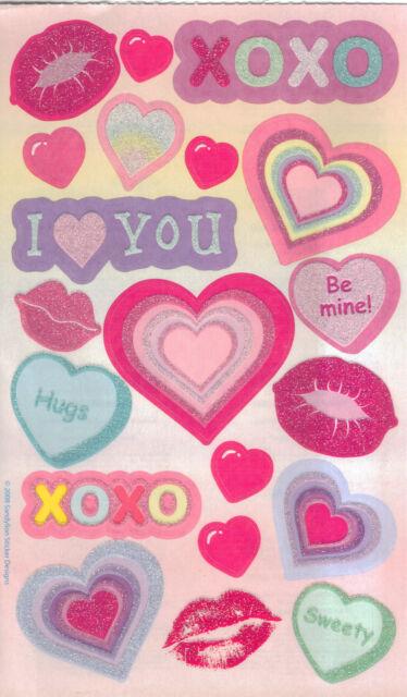 23pc HUGS /& KISSES Stickers Sandylion•Valentine/'s Day•Lips•Love •Hearts•Wedding