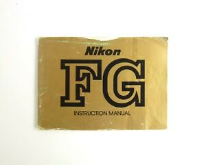Nikon-FG-Original-Instruction-Manual-In-English