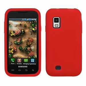 Red-Soft-Silicone-SKIN-Case-Cover-Samsung-Fascinate-Mesmerize-i500
