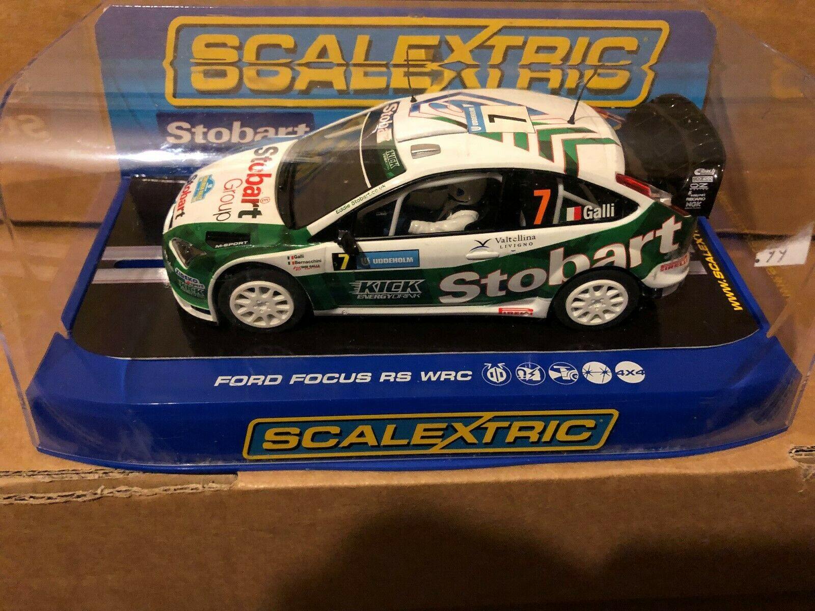 Ford Focus RS WRC Eddie Storbart No 7 White mint boxed ref c2883