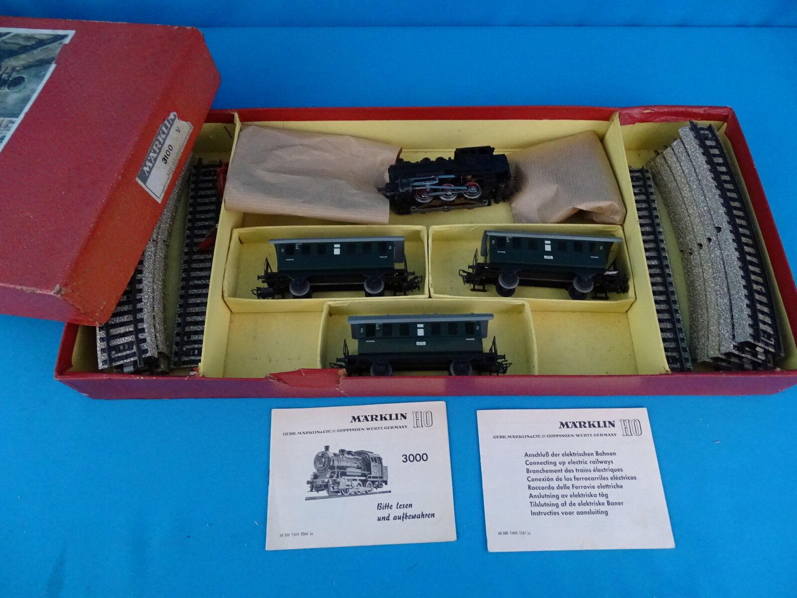 Marklin 3100 Stkonster Set 50 -ies 800 serie 1957
